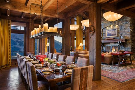 quiet waters residence rustic dining room