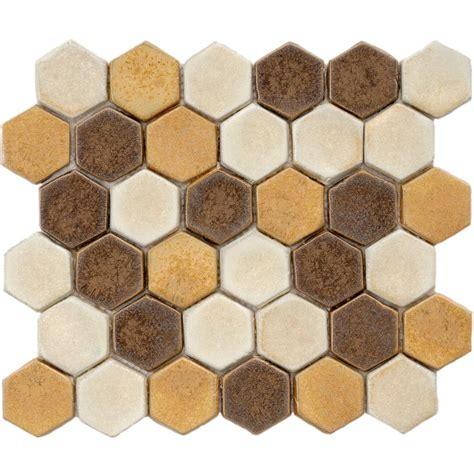 merola tile cobble hex tahoma 10 3 4 in x 12 in x 12 mm