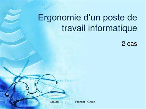 ppt ergonomie d un poste de travail informatique powerpoint presentation id 3427056