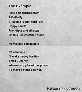 The Example Poem by William Henry Davies - Poem Hunter
