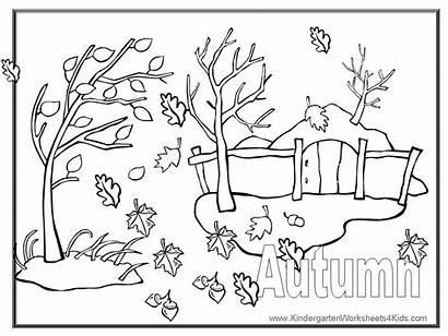 Coloring Autumn Fall Sheet Word
