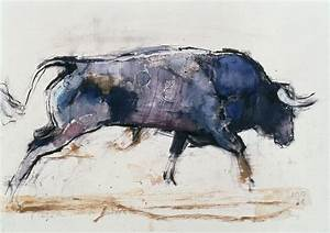 Charging Bull Painting by Mark Adlington