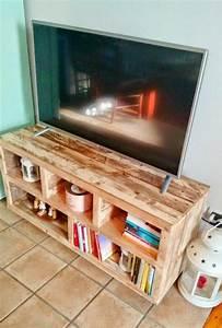 Acheter Meuble En Palette Bois : fabriquer un meuble tv instructions et mod les diy ~ Premium-room.com Idées de Décoration