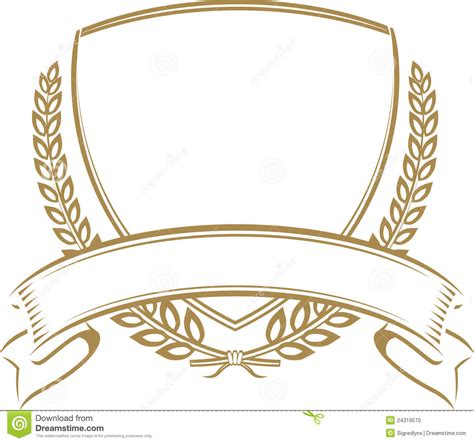 Wheat Coat of Arms Shield Template
