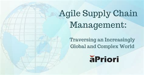global supply chain management  importance  agility