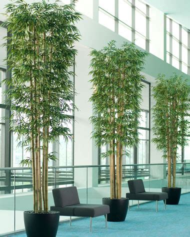12' Oversized Artificial Bamboo Tree For Home And Office