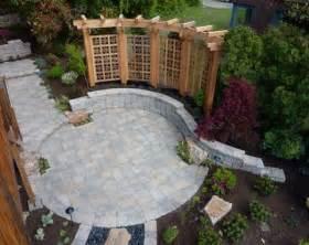 patio designs using pavers mediterranean landscape design