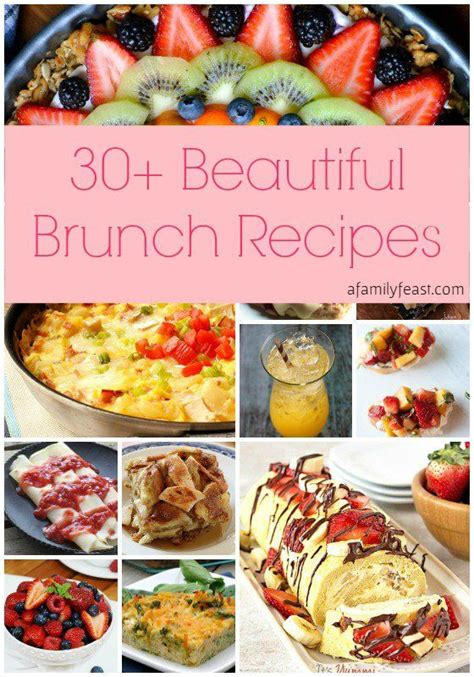 Beautiful Breakfast Recipes by 30 Beautiful Brunch Recipes For S Day Brunch