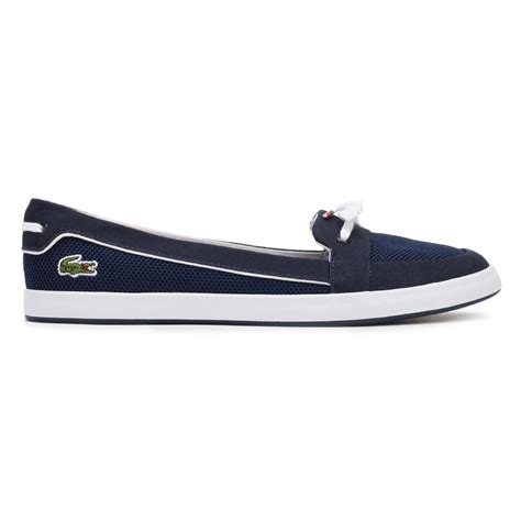 Boat Shoes Navy Blue by Lacoste Womens Boat Shoes Navy Blue Lancelle 117 1 Caw