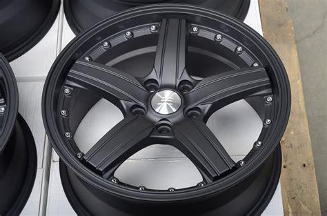 17 5x114.3 Matte Black Wheels Honda Accord Civic Infiniti