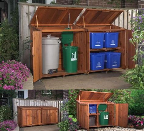 garbage bin storage shed 90 best images about garbage trash can and recycling sheds
