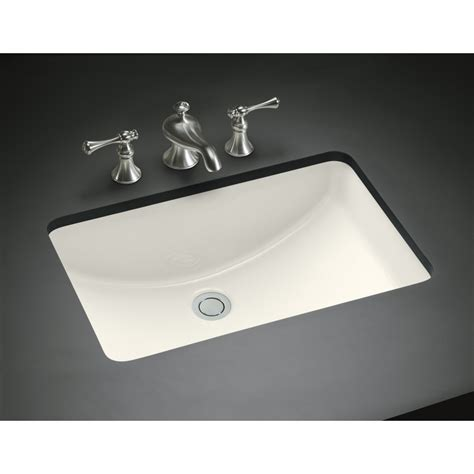 Rectangular Sinks Bathroom by Kohler Ladena Biscuit Undermount Rectangular Bathroom Sink