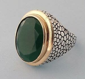 turco ottomano turkish faceted ottoman green jade gemstone solid 925