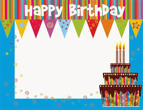 free happy birthday template free printable birthday cards ideas greeting card
