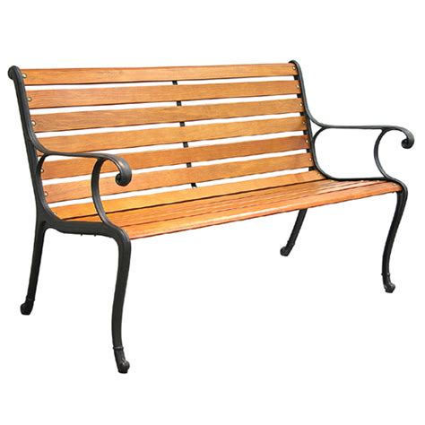 aluminum wood garden benches from lowes benches seating