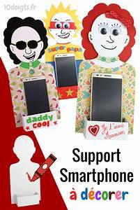 Bricolage Fête Des Pères Maternelle : silhouette porte smartphone projets essayer f te des ~ Melissatoandfro.com Idées de Décoration