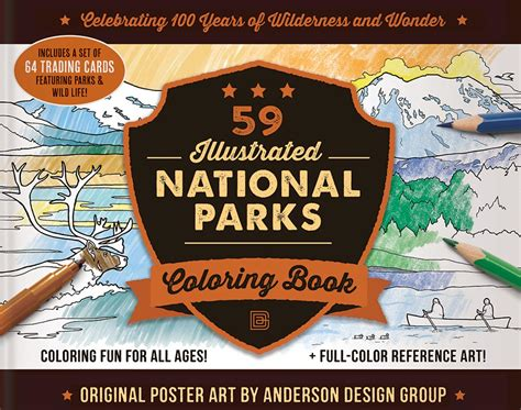adventure journal coloring     national parks