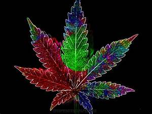 Psychadelic Weed Leaf - WeedPad Wallpapers