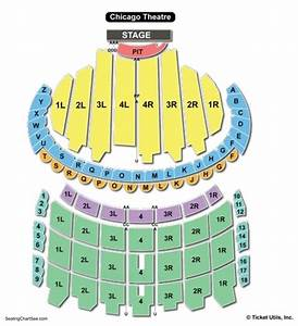 Seating Chart Cadillac Palace Theatre Chicago The Chicago Theatre Detailed Seating Chart Www
