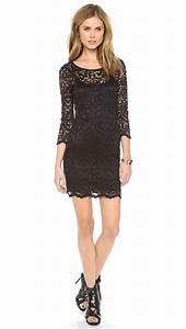 Velvet By Graham & Spencer Long Sleeve Stretch Lace Dress ...