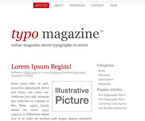 typographic xhtmlcss layouts   designs