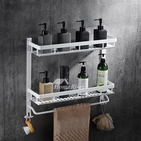 nordic wall mount bathroom white shelves