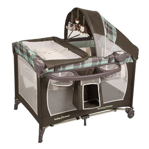 baby trend crib baby trend serene nursery center playard jungle safari