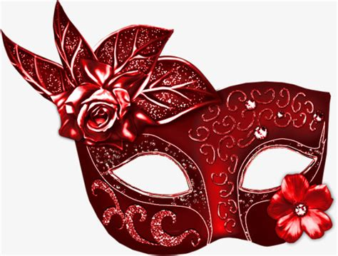 red masquerade mask prom mask red png image  clipart