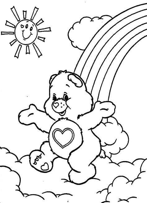 coloring worksheets printable free free printable care coloring pages for