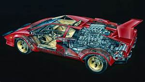 Go Inside The Lamborghini Countach With These 7 Cutaway