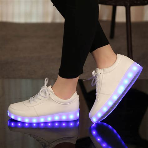 led light up shoes in stores aliexpress com buy yeafey usb charging luminous sneakers