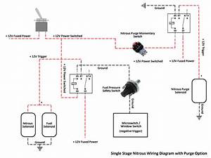 Single Stage Nitrous Wiring Diagram With Purge Option