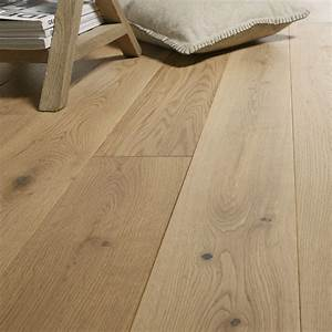 parquet massif chene naturel vitrifie l artens solidclic With leroy merlin promotion parquet