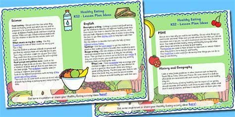 healthy eating lesson plan ideas ks healthy eating ks