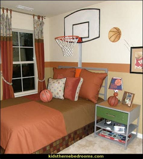 These basketball themed house and bedroom products and decorative ideas over the years the team at ball till we fall have researched thousands of basketball equipment products and during that time encountered. Decorating theme bedrooms - Maries Manor: sports