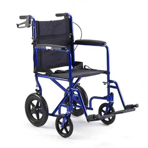 probasics invacare aluminum transport chair with 12 quot rear