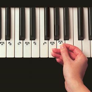 ez play piano keys stickers at the music stand With piano letter stickers