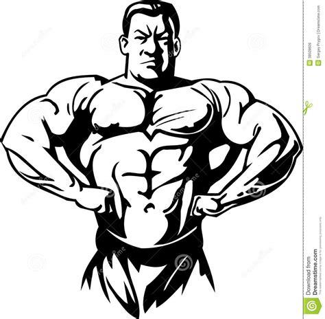 Kleurplaat Crossfit by Bodybuilding En Powerlifting Vector Vector Illustratie