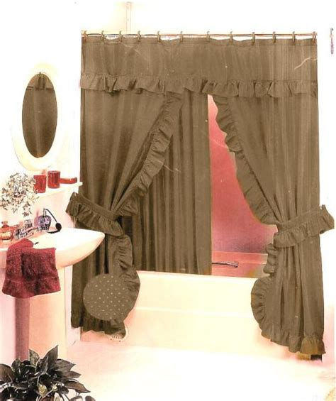 new swag fabric shower curtain set taupe gold