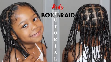 kids box braid tutorial  extensions added youtube