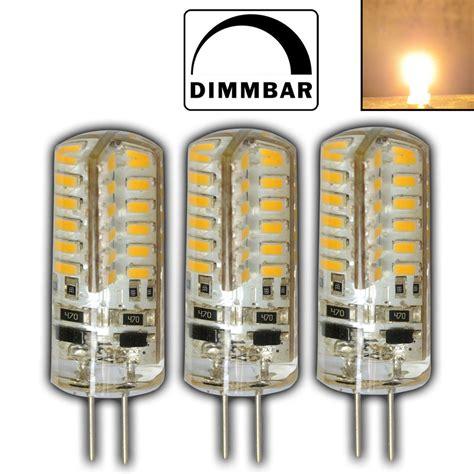 lada led g4 12v 3x g4 3 watt led le 12v dc 48 smd warmweiss dimmbar