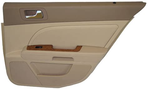 2008-2011 Cadillac Sts Right Rear Door Panel Cashmere Cocoa Leather Woodgrain