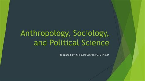 sociology anthropology political science