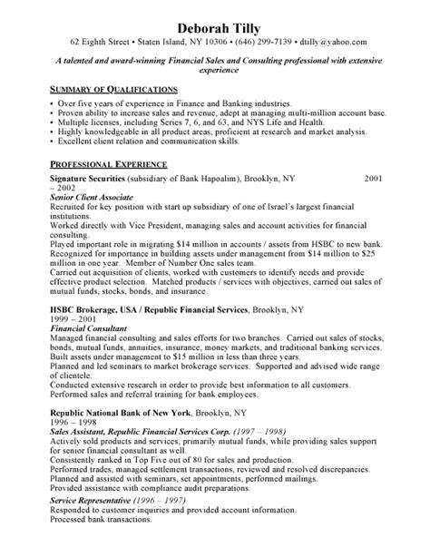 financial advisor resume profile resume templates free resumes