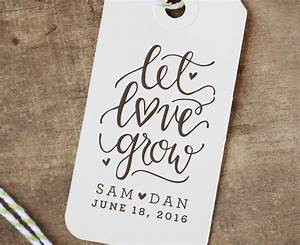 personalized let love grow rubber stamp wedding favor seed With let love grow wedding favors