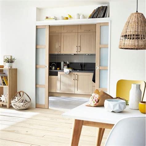 cuisine avec porte coulissante cuisine semi ouverte maison