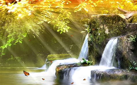 Animated Nature Wallpaper For Windows 7 - animated 3d screensaver waterfalls free screensavers for