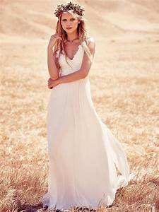 18 romantic bomemian chic summer wedding dresses for the With modern hippie wedding dresses