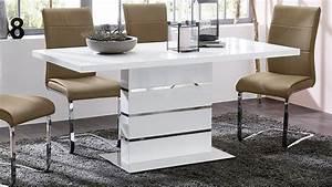 Tischplatte Weiß Hochglanz : esstisch antonia ausziehbarer s ulentisch in hochglanz wei ~ Frokenaadalensverden.com Haus und Dekorationen