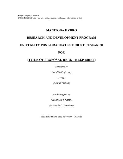 Research Proposal Title Page Thesis Writing Help Research Proposal